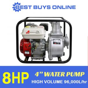 "8HP 4"" WATER TRANSFER PUMP HIGH PRESSURE 96,000L/hr 4 stroke Petrol Engine Best Buys on sale"