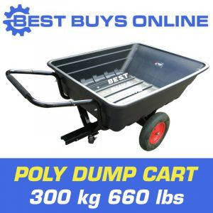 Poly Dump Cart 300kg Garden Hand Tipper Trailer ATV Ride Wheelbarrow 10CubicFoot Best Buys on sale