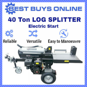 New 40 TON HYDRAULIC ELECTRIC START LOG SPLITTER Black Diamond Wood Splitter Best Buys on sale