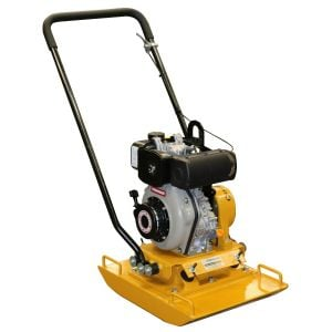 Diesel Plate Compactor 98 kg Crommelins 4.7HP Yanmar Engine Reversible Handle
