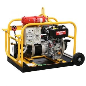 Crommelins Diesel Generator 2.4 kW 3 kVA, Portable with Wheels & Handle powered by Yanmar Electric Start Engine