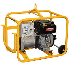 Crommelins Diesel Generator 3 kVA 2.4 kW Yanmar 4.7 HP Electric Start Engine