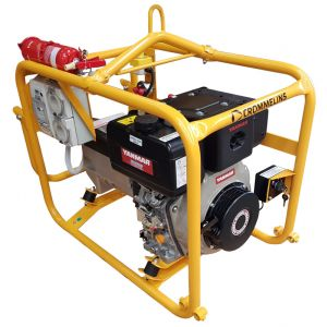 Crommelins Diesel Generator 3.8 kW CG40YDEM with Minespec, 6.7HP Yanmar Electric Start Engine
