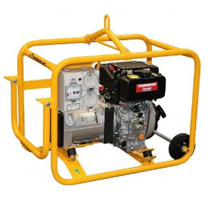 Diesel Generator Crommelins CG69YEH 6.9 kVA Yanmar Electric Start with RCD & Portable wheels
