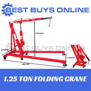 NEW FOLDING CRANE 1.25 TON Truck Mounted Hoist Lift Workshop Garage Tool