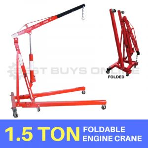 NEW FOLDING FOLDABLE ENGINE CRANE 1.5 Ton Heavy Duty 8 Ton Ram & Adjustable Legs