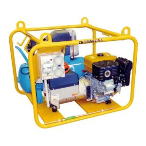 Welder Generator 5.6 kW Crommelins Workstation with 7.7 CFM Air Compressor and 200A Arc Welding