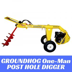 Hydraulic Post Hole Digger Earth Auger 9 HP Subaru Engine HD99SX Groundhog Made in USA