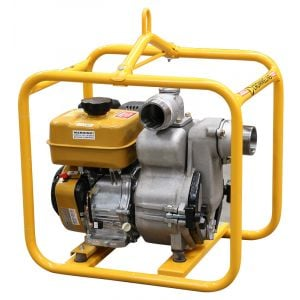 Trash Pump 3 inch Crommelins Petrol Debris Water Transfer Cast iron impeller High Flow 9HP Engine