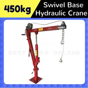 Hydraulic Swivel Crane 450 kg with Cable Winch
