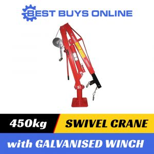 450 KG Hydraulic Swivel Crane with GALVANISED WINCH