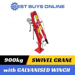 900 KG SWIVEL CRANE with Galvanised Cable Winch