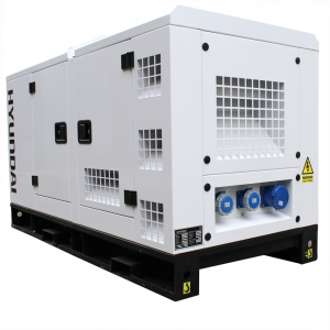 Diesel Generator 22 kVA Quiet Hyundai 21HP Electric Start Engine DHY18KSEM Single Phase Standby