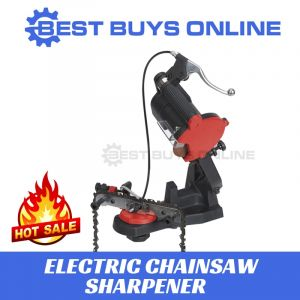 Electric Chainsaw Sharpener with hand brake on mounted bench