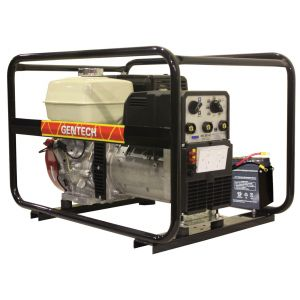 Welder Generator 7 kVA & 200A Welder Gentech Portable Petrol Power with Honda GX390 Electric Start