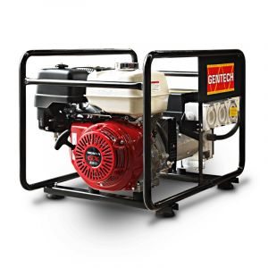 Portable Generator Honda GX390 8kVA Gentech Petrol Power with RCD protected outlets EP8000HSR-RCD
