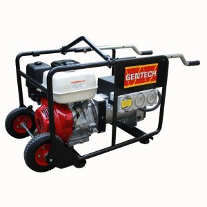 Honda Generator GX390 8kVA Portable Tradie Pack Gentech Petrol Power with RCD protected outlets EP8000-HIRE