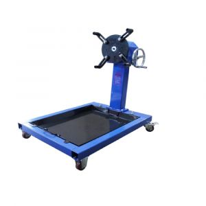 Engine Stand with Worm Gear Driven & Oil Drain Pan / Tray 300 kg Capacity