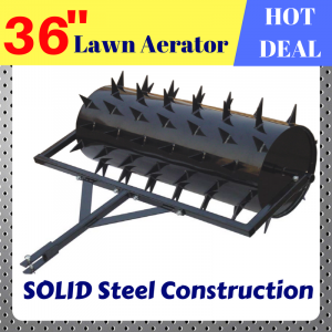 Lawn Spike Aerator 36 inch tow behind Tractor ATV Ride-on Mower