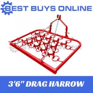 "Pasture Harrow Chain Drag Harrow 3 ft 6"" Spreader manure fertiliser Tractor 3PL"
