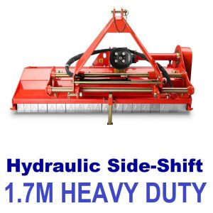 Flail Mower 5.5 ft Heavy Duty Mulcher suit Tractor 3 point linkage with Hydraulic Side Shift 1.75m Cut - Shop at Best Buys online