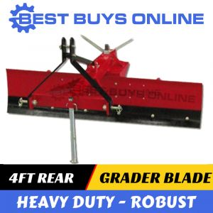 "4FT GRADER BLADE HEAVY DUTY 120CM ADJUSTABLE ANGLE Suit 3 POINT LINKAGE Tractor ""Best Buys on sale"""
