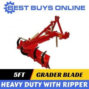"5FT GRADER BLADE WITH RIPPERS 1.5M Suit to 3 POINT LINKAGE 55HP TRACTOR ""Best Buys on sale"""