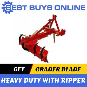 "6FT GRADER BLADE WITH RIPPER 1.8M 3 POINT LINKAGE - 55HP TRACTOR TPO ""Best Buys on sale"""