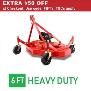 6 FT Finishing Mower 1800mm Finish Cut
