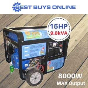 "PETROL GENERATOR Electric Start 15HP 8000W 9.6KVA Max 6600W Rated 4 Stroke ""Best Buys on sale"""