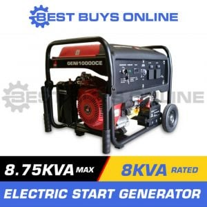 "GENERATOR 8.75kVA Max 8kVA Rated Quiet 14HP Electric Start BEST BUYS ONLINE ""Best Buys on sale"""