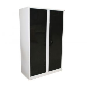 Storage Cabinet 4 Shelves Lockable Two Doors for Workshop Storage SP40450