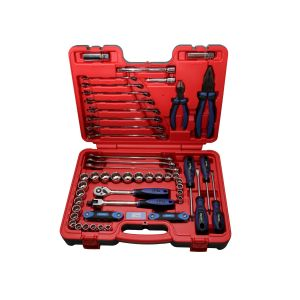 SP TOOL SET TOOLKIT 65PC 3/8inch DR 12PT METRIC/SAE IN X-CASE SP51204