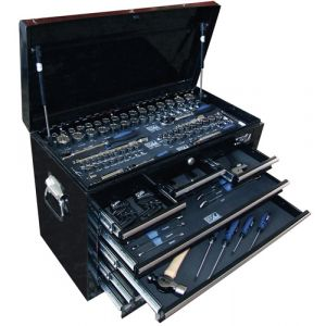 SP TOOLS Tool Kit 134 piece Metric/ SAE Tool set 7 drawer Tool Box Cabinet SP50097