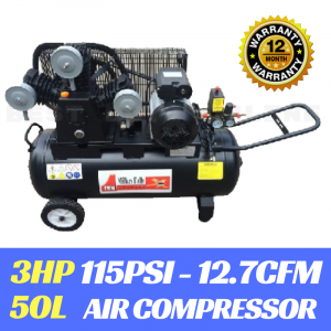 AIR COMPRESSOR 3 HP 240V Electric Motor Belt Drive 50L Tank Cylinder Pump