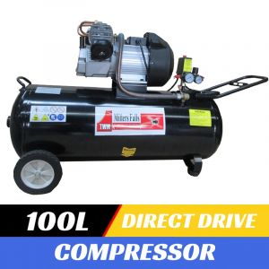 100 Litre AIR COMPRESSOR DIRECT DRIVE 14.8CFM 3HP 350L/min V-Twin Cylinder