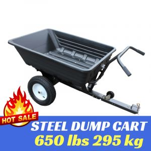 POLY DUMP CART Garden Trailer 650 lbs Wheelbarrow HEAVY DUTY TOW ATV Quad 295kg Best Buys on sale