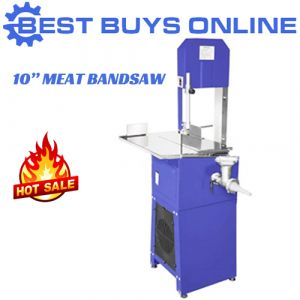 "Meat band saw 10 "" Bandsaw with Mincer Sausage Filler Slicer Grinder"