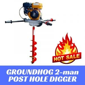 Post Hole Digger 2 man Earth Auger 6 HPEngine Groundhog C715SX made in usa , Best Buys Online