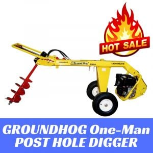 "Post Hole Digger Earth Auger Honda GX270 HD99SX Groundhog Made in USA up to 18"" augers"