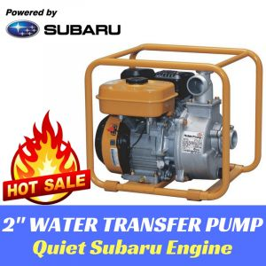 "2"" WATER TRANSFER PUMP Centrifugal Portable 32m Head Subaru Engine 2yr Warranty"