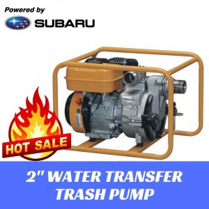"2"" WATER TRANSFER TRASH PUMP Portable Quiet Subaru Engine 45000L/hr HIGH FLOW"