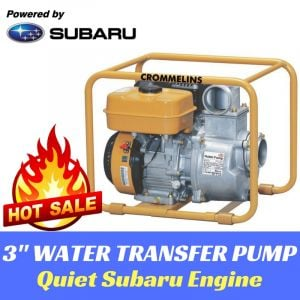 "3"" WATER TRANSFER PUMP HIGH FLOW 60,000L/hr 32m HEAD Subaru Engine 2yr Warranty"