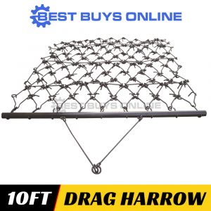 "DRAG HARROW SUPER HEAVY DUTY 3.05M WIDE 10FT Working Width Best Buys Online ""Best Buys on sale"""