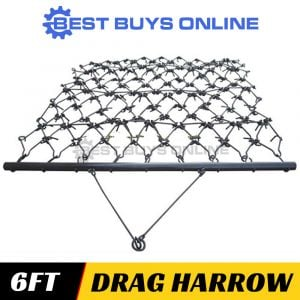 "MILLERS FALLS 6FT DRAG HARROW SUPER HEAVY DUTY 1.8M WIDE - FARMING, SOIL PREP ""Best Buys on sale"""