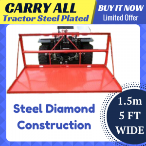 STEEL DIAMOND PLATED CARRY ALL 5FT 150CM 3 POINT LINKAGE Carryall tractor