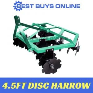 DISC HARROW 4.5 FT Cultivator Heavy Duty Mounted Tractor Attachment 25- 30 HP