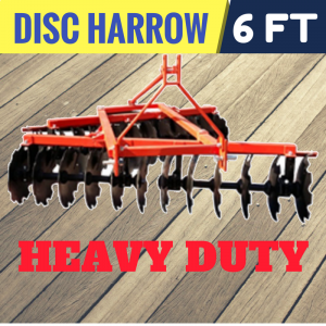 DISC HARROW CULTIVATOR PLOUGH 6 FT 170 CM Heavy Duty Mounted Suit TRACTOR 25 - 40 HP