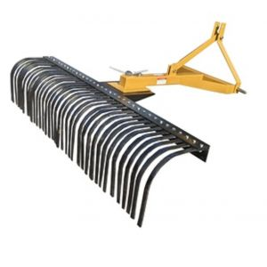 "NEW 4FT TRACTOR LANDSCAPE STICK RAKE 120CM 24pcs heat-treated replaceable tines ""Best Buys on sale"""