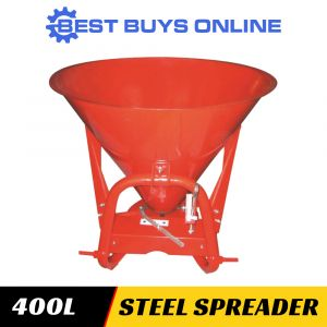 FERTILISER SPREADER STEEL HOPPER 400 L PUSH/TOW Broadcast Spreader